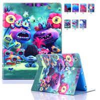 For Coque IPad Air Kids Case 2017 New Cartoon Flip Folio PU Leather Book Stand Cover