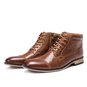 Image 3 - VRYHEID ماركة عالية الجودة الرجال الأحذية حجم كبير 40 50 جلد طبيعي خمر حذاء رجالي موضة عادية الخريف الشتاء حذاء من الجلد