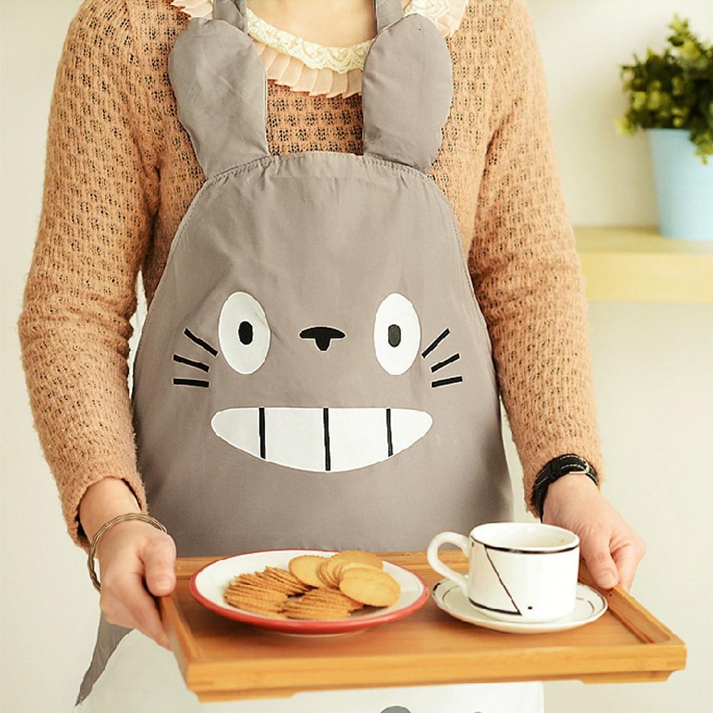 Mi vecino Totoro dibujos animados delantal desgaste del traje divertido de la novedad para la cocina lavado Cosplay