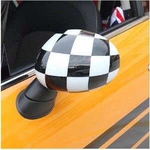 Image 2 - 외부 도어 백미러 장식 보호대 쉘 커버 하우징 미니 쿠퍼 용 s jcw f56 f55 자동차 스타일링 액세서리