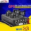 CCD Cámara de Interior Al Aire Libre + Cámara Impermeable DEL IR Del Registrador Del Coche Kits Wifi GPS Seguimiento En Tiempo Real 24 H 3G Dvr Móvil de Vídeo grabadora
