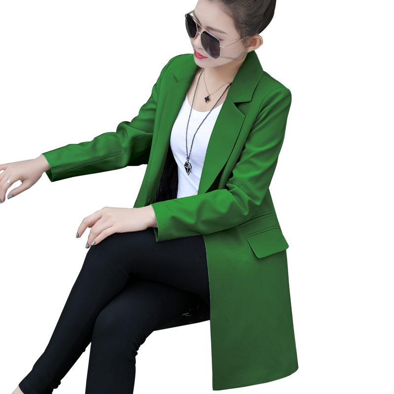 Spring Autumn Women Slim Blazer Coat 2016 New Casual Jacket Long Sleeve One Button Suit Ladies