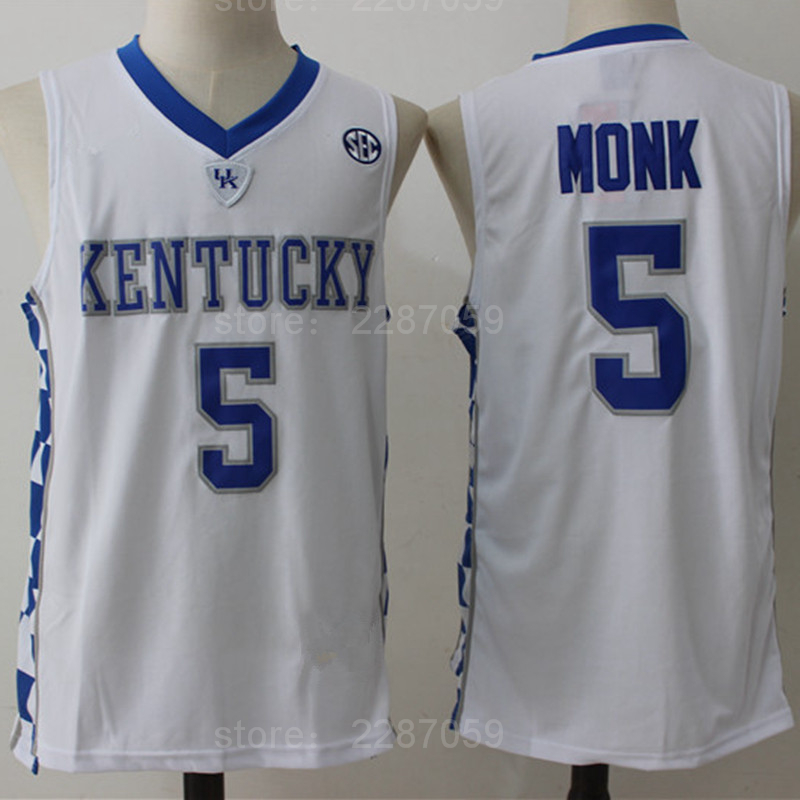 Ediwallen Kentucky Wildcats Malik Monk 5 Jersey Men Blue White College Monk  Basketball Jerseys For Sport Fans High Quality-in Basketball Jerseys from  Sports ... 4119c12de