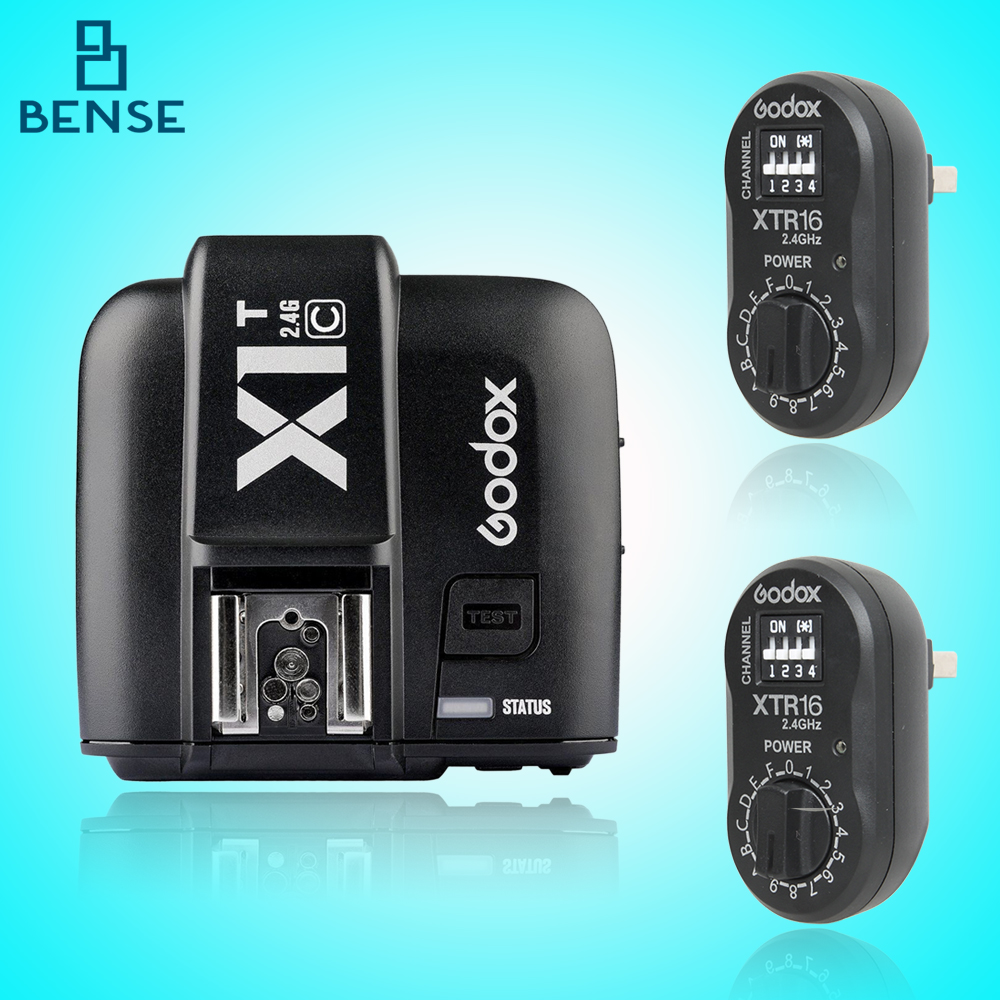ФОТО 2x Godox XTR-16 Wireless 2.4G Power Control Flash Receivers + X1T-C TTL Wireless Transmitter for Canon AD180 AD360
