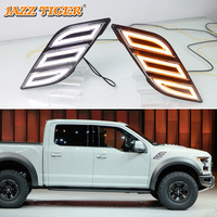 JAZZ TIGER LED Daytime Running Light 12V DRL Turn Signal Lamp Car Fender Light For For Ford Raptor SVT F150 F 150 2016 2017 2018