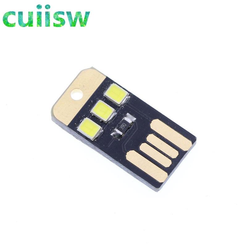 Bright 5pcs Mini Night Usb Led Keychain Portable Power White Board Pocket Card Lamp Bulb Led Integrated Circuits