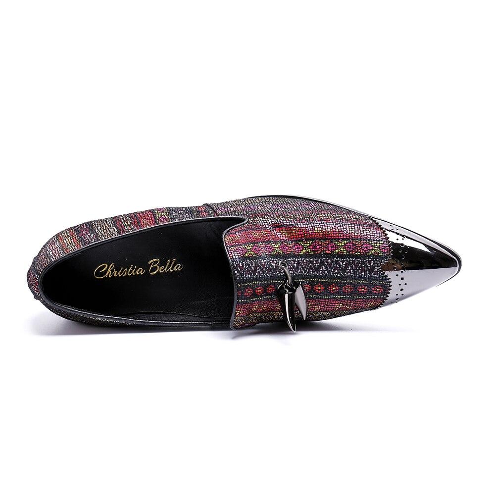 Planos 2 Bella La Zapatos Tarde Diseñador Hombres Bling 1 2018 Lujo Moda Tamaño Más De Marca Christia Del Para 47 Partido Nueva Llegada ZY16Sq