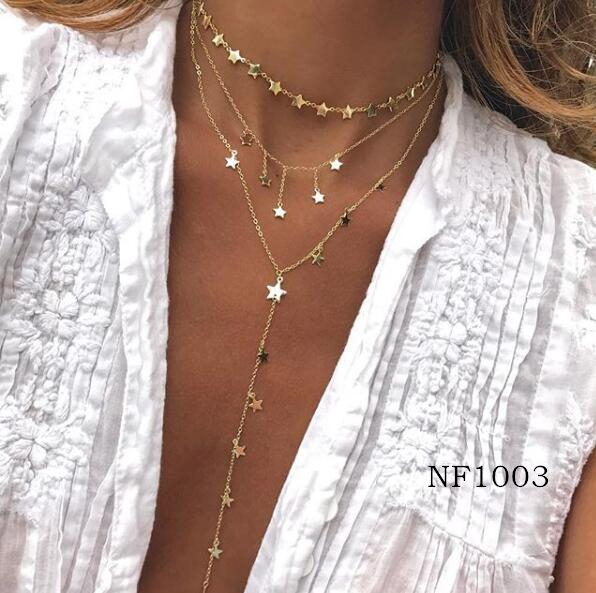 Chain Tiny Star Choker Necklace for Women bijoux Layered and long Necklaces Pendants Simple Dainty Boho Layering Chokers александрова н блондинка на завтрак