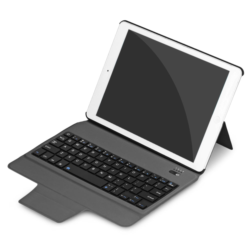 Fashion Business Portable Bluetooth Keyboard Stand Cover Holder Case for iPad Air 1 / Air 2 / iPad Pro 9.7 Tablet Mar15