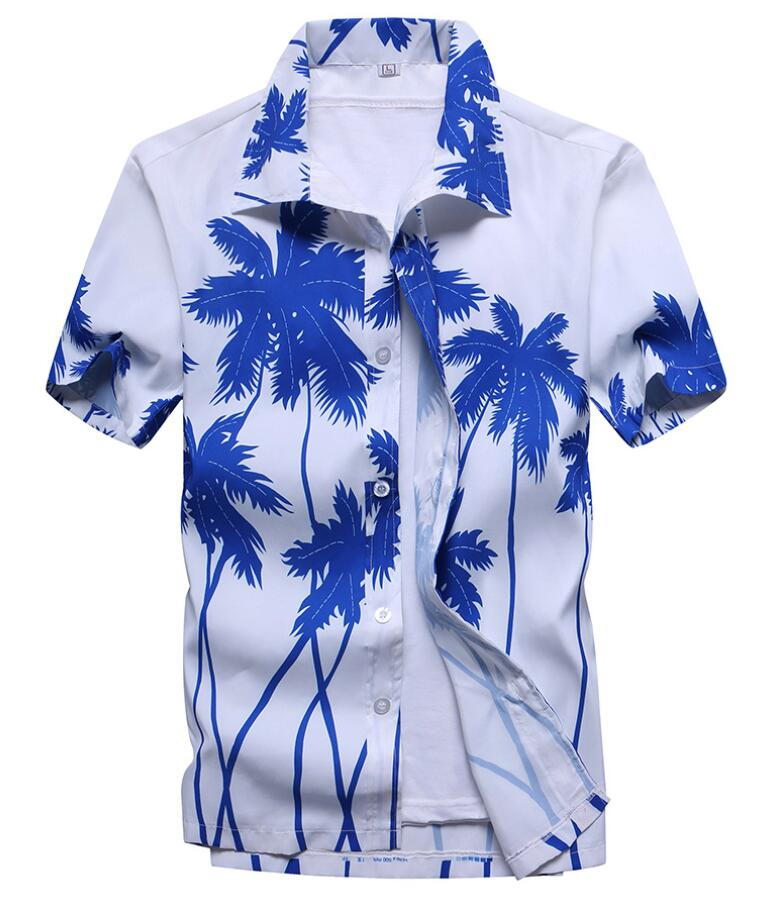 Men's Summer Hawaiian Shirts Single Breasted Light Beach Shirts Short Sleeve Breathable Plus Size XS-5XL Hawaii Shirts image