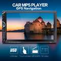 8001 2 Din Car Video Player 7'' 2Din Car Radio Stereo GPS Navigation FM RDS Bluetooth Remote Control Rear View Camera