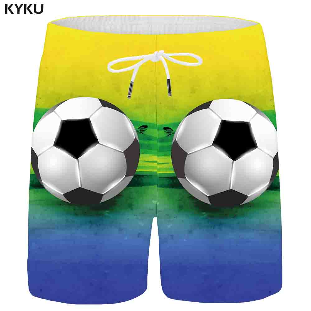 KYKU Brand ball Shorts Men Colorful Casual Shorts Cargo Painting 3d Printed Beach Anime Mens Short Pants 2018 New Summer