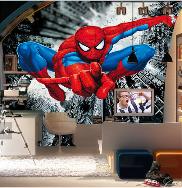 Fine Us 30 0 Custom Children Wallpaper Spider Man 3D Cartoon Murals For Childrens Rooms Living Room Sofa Ktv Backdrop Waterproof Wallpaper In Wallpapers Evergreenethics Interior Chair Design Evergreenethicsorg