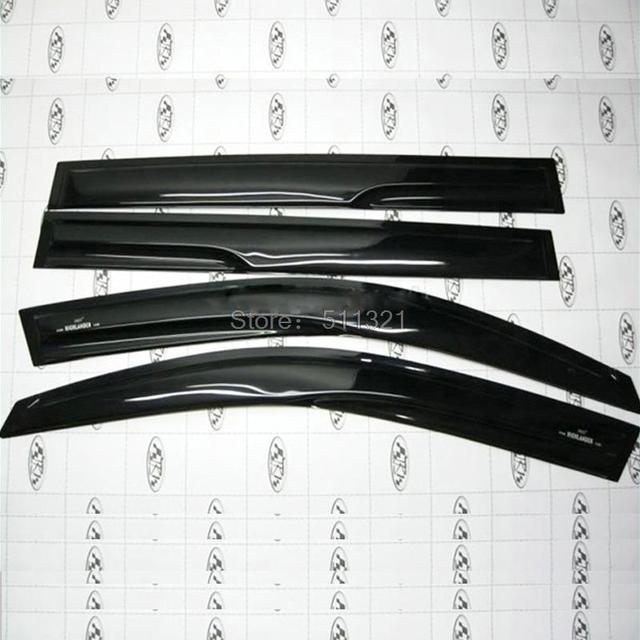Fit For toyota Highlander 2008 2009 2010 2011 Black Plastic Window Visors Wind&Rain Shelter Protector 4PCS/SET Car Styling