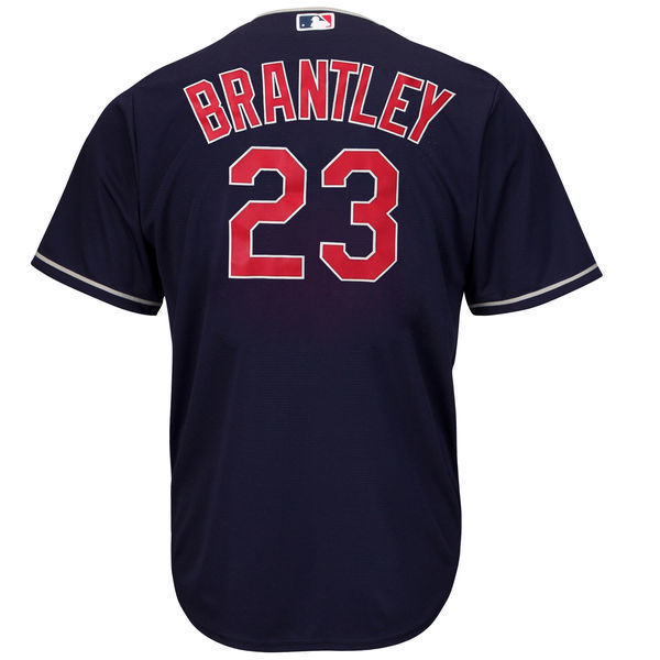 MLB Youth Cleveland Indians Michael Brantley Navy Alternate Cool Base Player Jersey