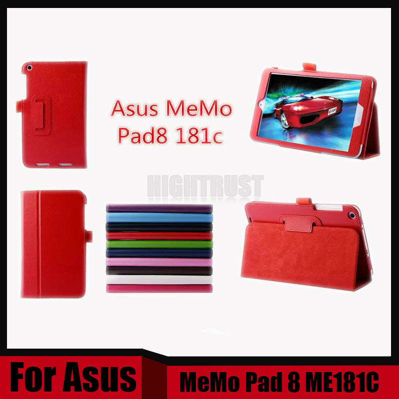 3 in 1 High Quality Lychy Texture pu Leather Case For ASUS MEMO Pad 8 ME181 ME181C K011 + Stylus + Screen Film