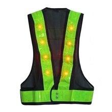De alta Calidad! impermeable Ropa Ropa Reflectante Chaleco Reflectante Led Flash de la Seguridad Vial de Saneamiento Tráfico Construcción
