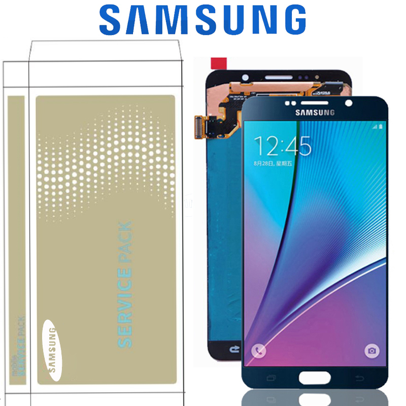 5.7'' The Burn-Shadow LCD For SAMSUNG Note 5 Display N9200 N920T N920A N920I N920G LCD Display Screen Touch Digitizer With Frame