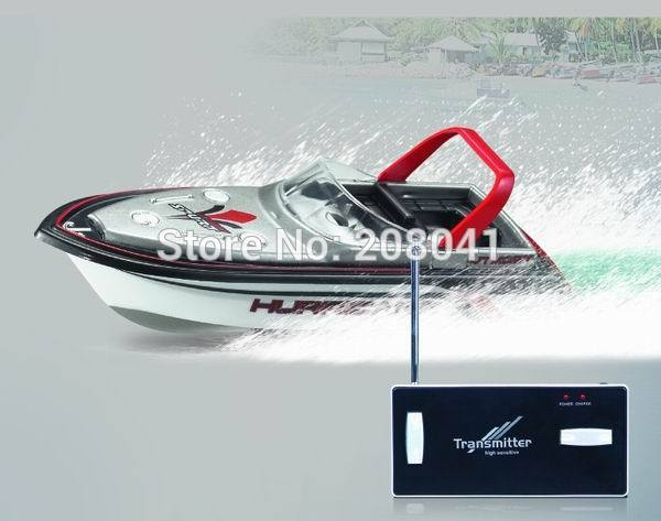 Brand New RC Båd Happy Cow 777-218 Fjernbetjening Mini RC Racing Båd Model Speedboat med Originalpakke Kid Gift FSWB