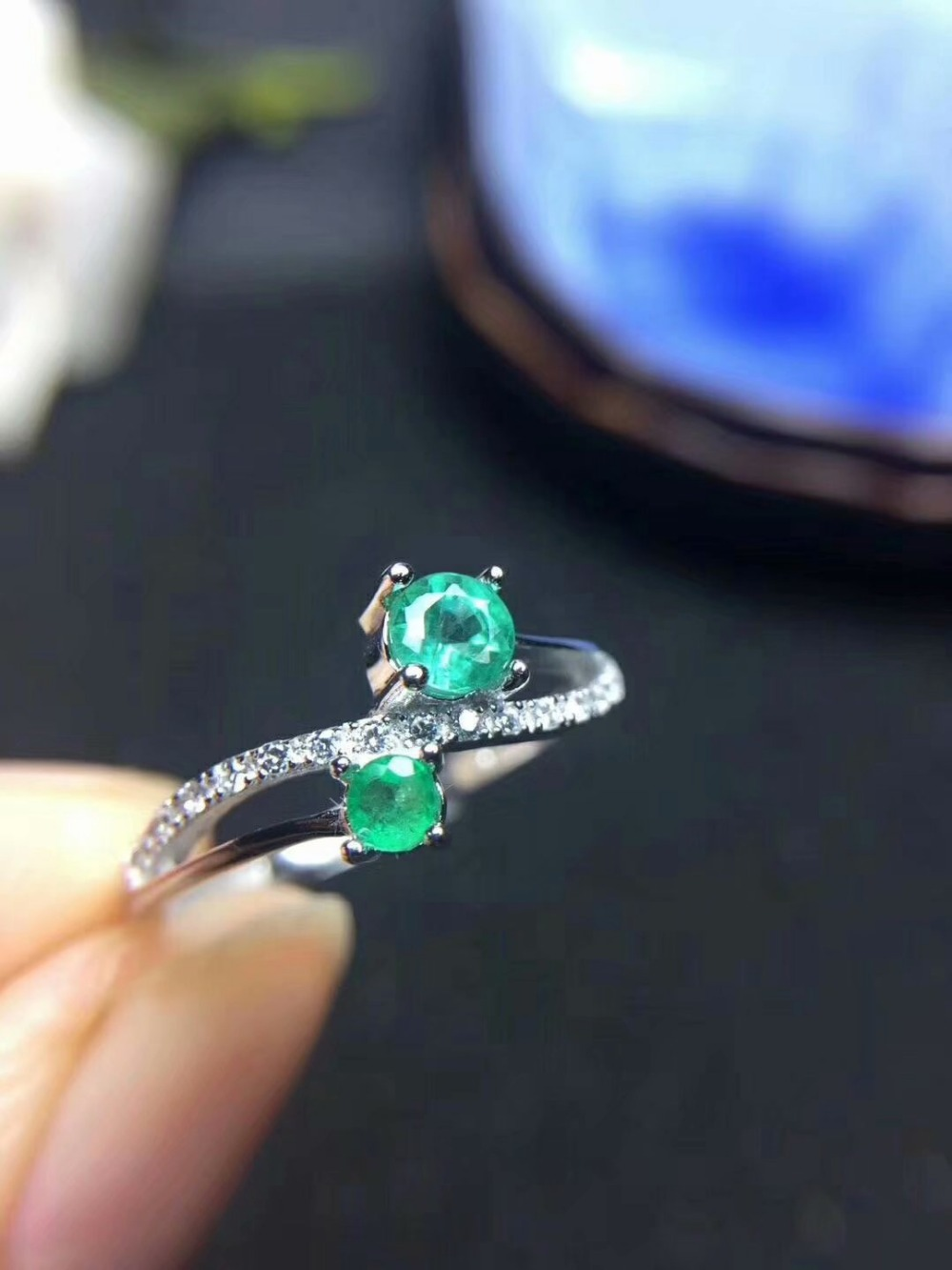 100% 925 sterling silver Natural green Emerald Rings fine Jewelry gift women wedding open wholesale new 3*4mm tfj030404agml 100% 925 sterling silver Natural green Emerald Rings fine Jewelry gift women wedding open wholesale new 3*4mm tfj030404agml