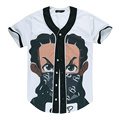 Hip Hop Cartoon Printing Masked Boy 3D T Shirt Men Women 2017 Summer Short Sleeve Harajuku Tee Tops Unisex Baseball Uniform