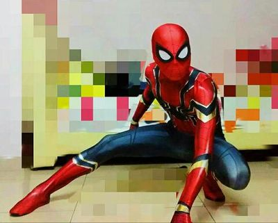 Iron Spiderman Homecoming Costume Movie Homecoming Iron Spiderman Cosplay Costume Custom Made for Male/ female/kids