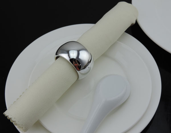 Free Shipping 12pcs Lot Silver Napkin Ring Buckle Holder For Hotel Dining Table And Wedding Party Decoration In Rings From Home