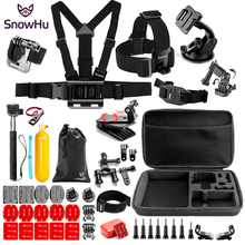 SnowHu Sport camera Accessories set 360 Degree Rotary Backpack Hat Clip Fast Clamp Mount For Go Pro Hero 7 6 5 4   camera GS91 цена 2017