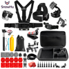 SnowHu Sport Camera Accessories Set 360 Degree Rotary Backpack Hat Clip Fast Clamp Mount For Go