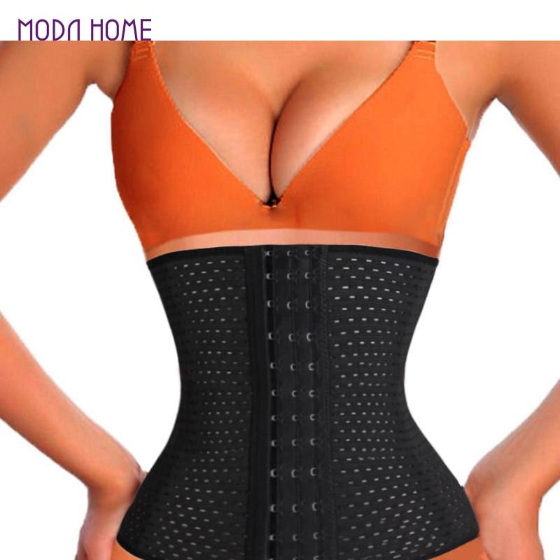 6f20ff2a89af2 2019 Women Hot Body Shaper Slim Waist Tummy Belt Waist Cincher Underbust  Control Corset Waist Trainer