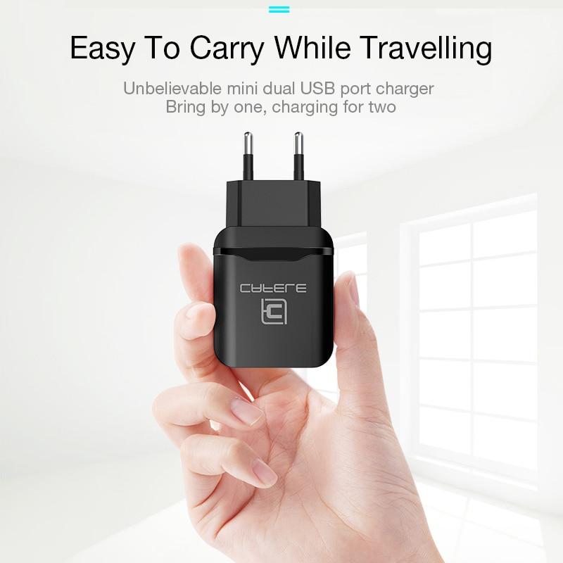 CAFELE EU Charger Plug Travel USB 2.4A երկակի ելքային - Ավտոմեքենաների էլեկտրոնիկա - Լուսանկար 3