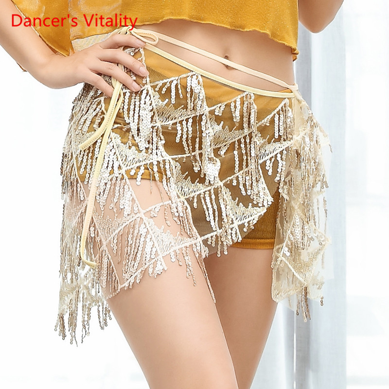 New Women Belly Dance Sexy Short Belt Tassel Triangle Towel Waist Towel Girdle Dance Competition Accessories