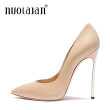 2018 Brand Shoes Woman High Heels Women Pumps Stilettos For Black PU Leather Ladies Wedding