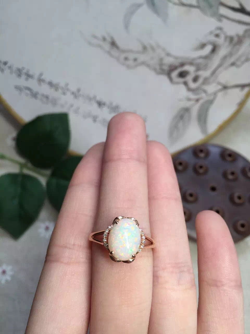 Aliexpress.com : Buy fine jewelry 18k perfact natural gold opal ring ...