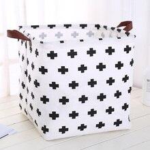 Składany organizer do przechowywania kosz składany do bawełnianej bielizny w stylu skandynawskim duże pudełko do przechowywania zabawek Barrel organizador