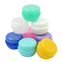 Transparent jar cosmetic sample box 5pcs empty plastic container colorful cream jar mushroom shaped cream sub-bottle