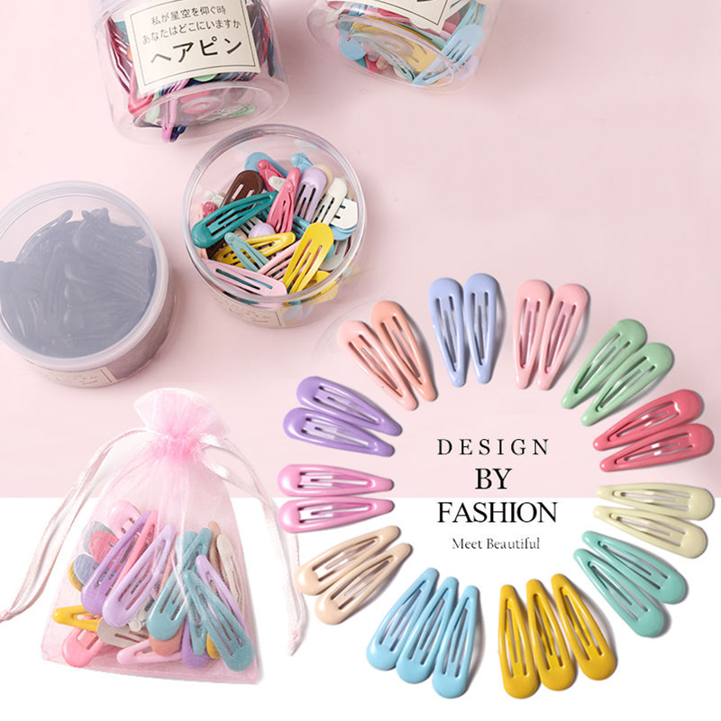 16PCS/Set Girls Cute Candy Colors Waterdrop Hairpins Children Headband Sweet Hair Clips Barrettes Kids Fashion Hair Accessories