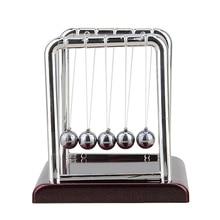 Cradle Steel Balance Ball Physics font b Science b font Pendulum Desk Table Decor Fun Toy