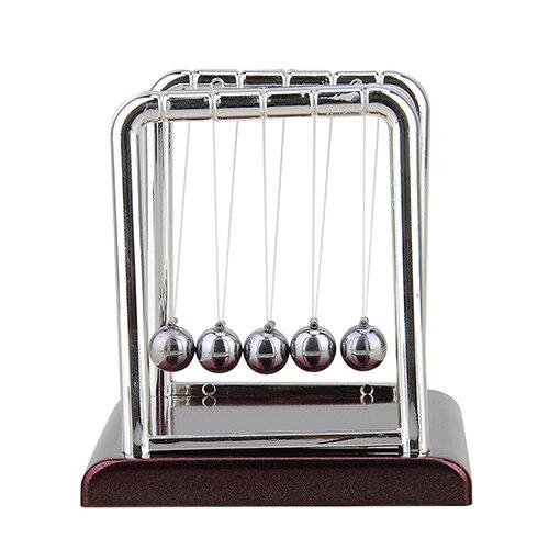 Cradle Steel Balance Ball font b Physics b font Science Pendulum Desk Table Decor Fun Toy