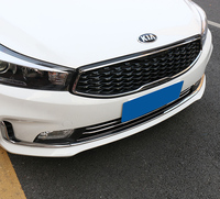 3pcs for KIA K3 2016 2017 front Grille decorate Stainless steel Trim