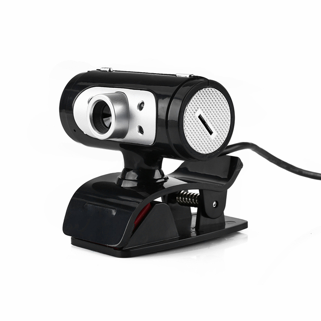 High Definition 1280*720 720p 4 LED Light HD Webcams Web Cam Camera with Night Lights for Computer Built-in Digital Microphone 3