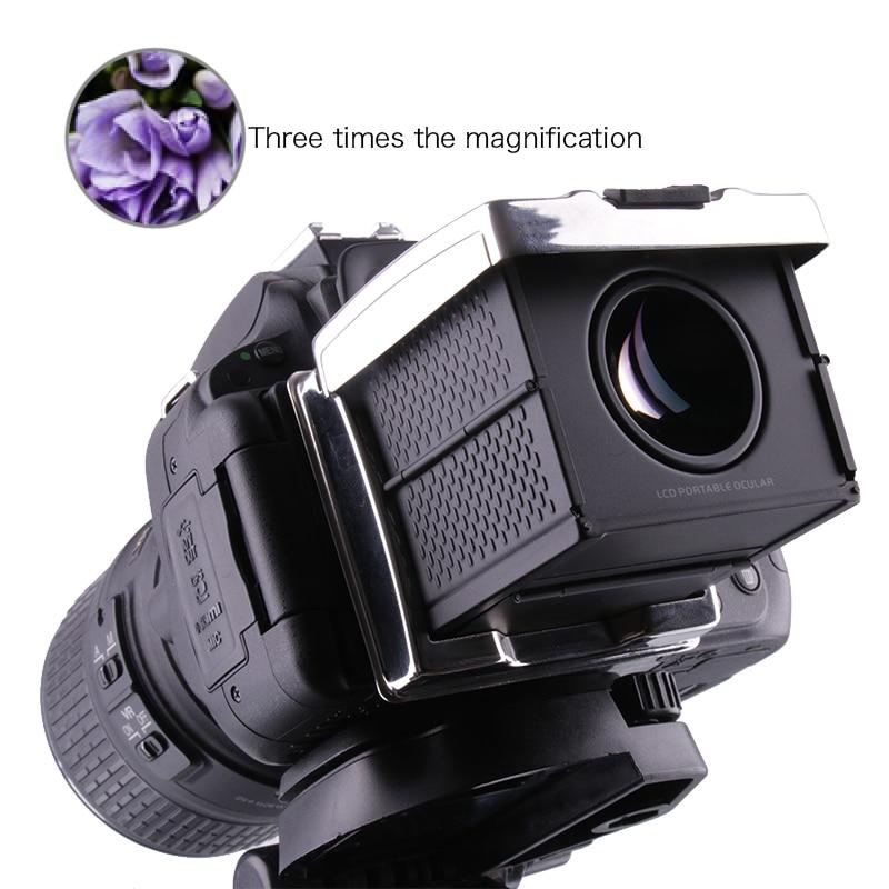 Ecran LCD appareil photo 3X viseur optique pliable oculaire pour Canon 1DX 1 DXII 5 DIII 5DS 5DSR 5D IV