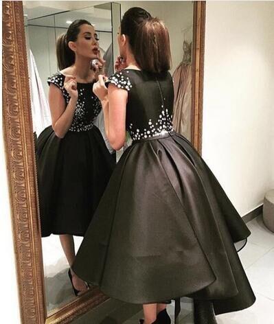 Robes De Soiree Arabic Style Elegant High Low Evening Dresses 2017 ... 407e008e7b0b