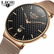 цена 2018 NEW Mens Watches Top Brand Luxury Quartz Watch Men Steel Mesh Strap Sport Wristwatches Waterproof Clock Relogio Masculino онлайн в 2017 году