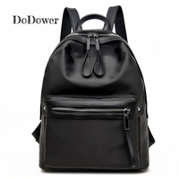 Do Dower Casual Nylon Backpacks Women High Quality Waterproof Backpacks Female Solid Color Zipper Schoolbag For