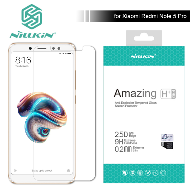 Nillkin for Xiaomi Redmi Note 5 Pro 9H / H+ Pro Tempered Glass Screen Protector 0.2mm Ultra Thin Redmi Note 3 4 5 Nilkin Glass