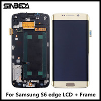 Sinbeda 100 Guaranty For Samsung Galaxy S6 Edge G925 G925F G925i LCD Display Touch Screen Digitizer