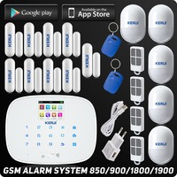 IOS Android APP Wireless GSM Alarm System Autodial Text For Home House Office Burglar Intruder Alarm