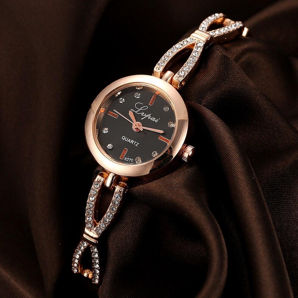 Lvpai marque de mode femmes Bracelet montre de luxe Rose en acier inoxydable bande Quartz montres dames robe Sport montres horloge LP078Lvpai marque de mode femmes Bracelet montre de luxe Rose en acier inoxydable bande Quartz montres dames robe Sport montres horloge LP078
