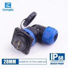 Sp28 Waterproof Connector 3pin 5pin 7pin 9pin 12pin 16pin 19pin 24pin IP68 Dustproof Aviation Plug Socket Male Female